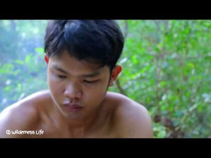 Cooking Sabak Fish (Sea food) Recipe in forest for Dinner