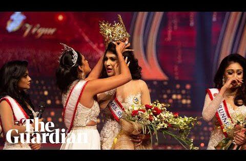 'Mrs World' grabs crown from head of 'Mrs Sri Lanka' in on-stage fracas