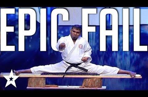 EPIC KARATE FAIL! Karate Audition Goes Wrong on Sri Lanka's Got Talent   Got Talent Global