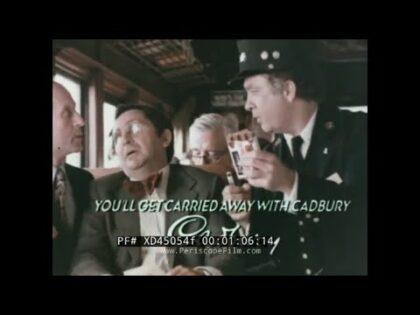 "1978 CADBURY MILK CHOCOLATE BAR  TV COMMERCIAL  ""YOU'LL GET CARRIED AWAY WITH CADBURY"" XD45054f"