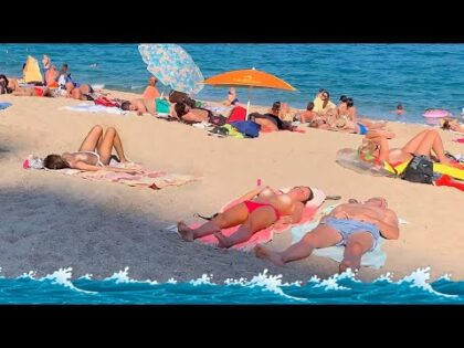 4k VIDEO BEACH walk in COSTA BRAVA Spain TRAVEL vlog