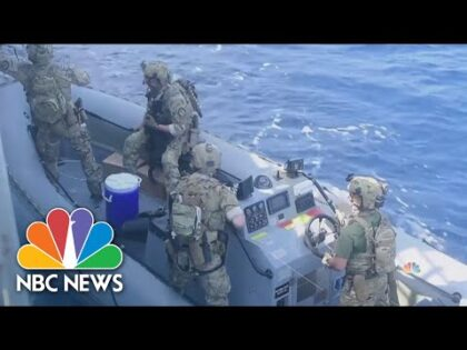 USS Monterey Intercepts Arms Shipment in Arabian Sea | NBC Nightly News