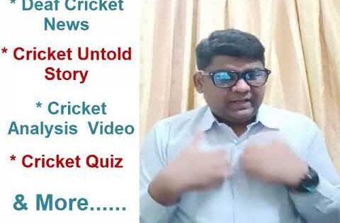 #signnews Deaf Cricket News