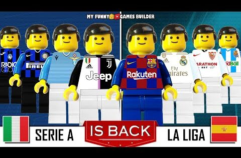 Serie A & LaLiga is back in Lego Football post COVID-19 lockdown! Goals Collection Film