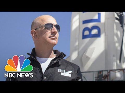 Watch: Jeff Bezos, Blue Origin Crew Launch Into Space | NBC News
