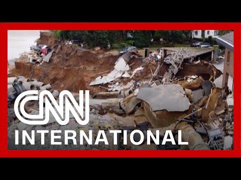 See huge flood devastation in Germany and Belgium