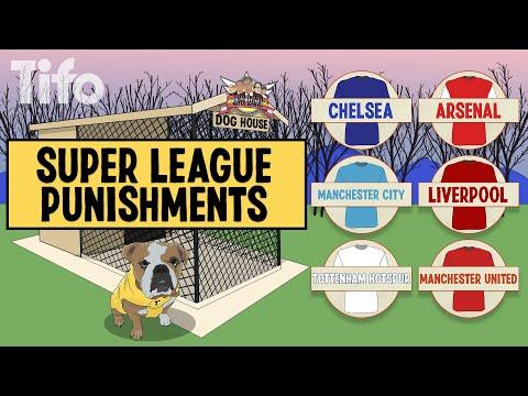 How is the Premier League punishing the Super League clubs?