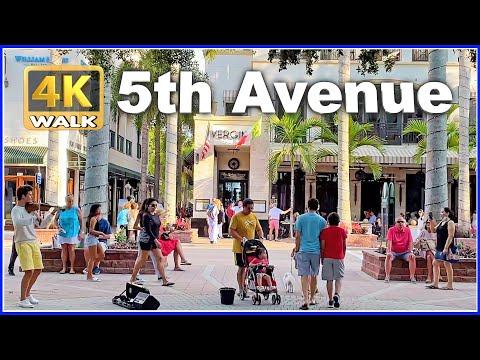 【4K】WALK NAPLES Florida USA 4k video walking Travel vlog HDR