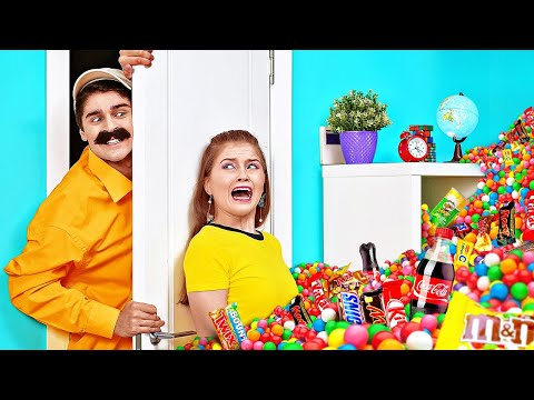 COOLEST WAYS TO SNEAK FOOD FROM YOUR PARENTS || Funny Snacks And Candy Pranks By 123 GO! BOYS