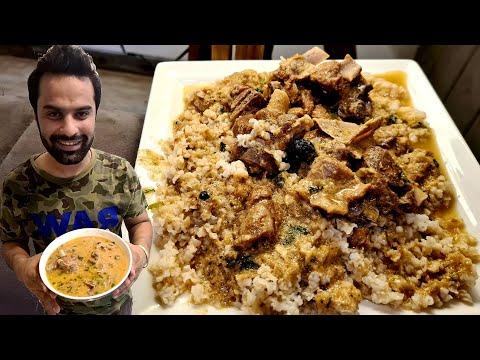 Desi Ghee Mutton Yakhni aur Chawal. Kashmiri Food Recipe. Easy Recipe Mutton Yakhni. Indian Food
