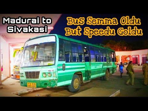 🚌TNSTC OLD GREEN BUS TRAVEL VLOG!!! Madurai to Sivakasi | 80km/hr speed | Naveen Kumar