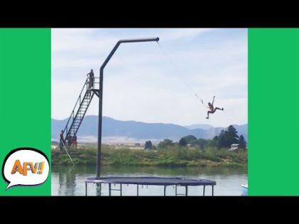 Big Swing? Bigger FAIL! 😅🤣 | Funny Big Air Fails | AFV 2021