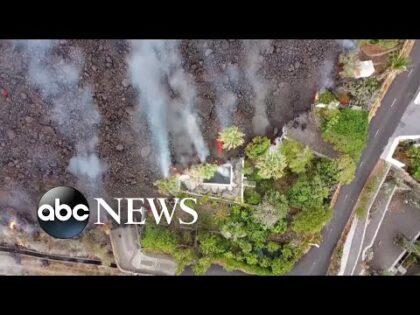 Canary Island officials worry volcanic lava may create acid rain