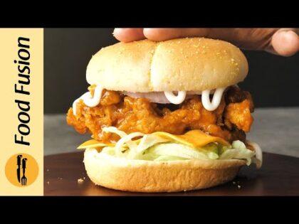 Crispy Buffalo Chicken Sandwich/Burger Recipe By Food Fusion
