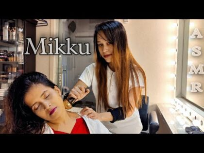 ASMR Sleep Pills*Female Massage💈HEALTH AND BEAUTY MASSAGE💈Asmr Head & Ear Massage By Mikku Barber