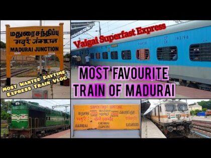 🚂VAIGAI EXPRESS TRAVEL VLOG!!! Madurai to Chennai | Most Prestigious Day Train | Naveen Kumar