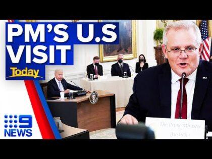 Scott Morrison meets with world leaders in America | 9 News Australia