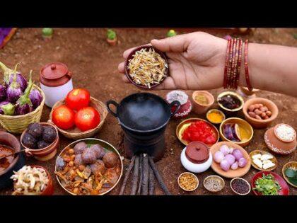 Dry Fish Recipe | Grandmother Recipes | Village Food | கிராமத்து கருவாட்டு குழம்பு | The Tiny Foods