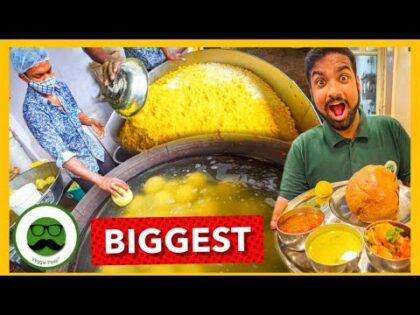 India's Biggest Dal Bafla| Huggge Street Food Recipe | Veggie Paaji Indore