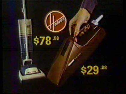 "1984 BEJM Sew-Vacs ""The Hoover Marathon Sale""  Sacramento Local TV Commercial"