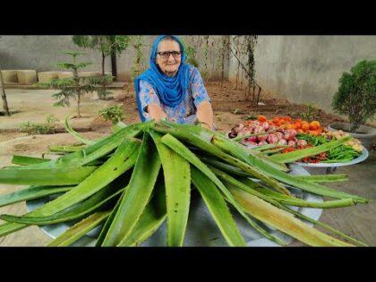 ALOE VERA COOKING | HEALTHY RECIPE | ALOE VERA REIPE | VEG VILLAGE FOOD