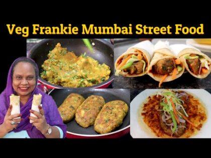 Veg Frankie Recipe | Mumbai Street Food Veg Frankie | Aloo Tikki Frankie Recipe | Schezwan Frankie