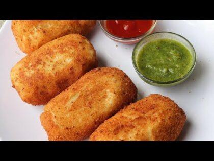 Quick and Easy Veg Bread Roll Recipe | Dahi Bread Roll Recipe
