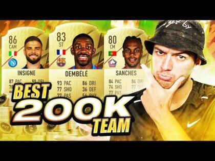 BEST 200K SQUAD BUILDER EVER!! FIFA 22